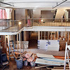 John P. Cleary | The Herald Bulletin<br /> Developers New Hope Services Inc. are renovating Elwood's former Leeson's Department Store building into 23 two-bedroom units, known as The Lofts at Leeson's. This is the view looking over the mezzanine and open common area for the development.