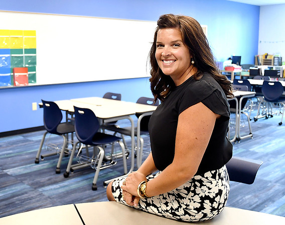 John P. Cleary | The Herald Bulletin<br /> Ashley Gustin is the principal of Anderson Intermediate School.