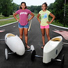 Don Knight | The Herald Bulletin<br /> Sisters, from left, Maryah Elliot and L'Rayna Elliot Dabney will be representing Anderson in the Super Stock and Stock division in Akron.