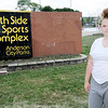 Don Knight | The Herald Bulletin<br /> Angela Heichel at the Southside Sports Comlex where she says she was attacked for the second time by the same girl who has not been charged.