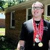 Don Knight | The Herald Bulletin<br /> Special Olympian Austin Wilhoite won first place in the 50 meter dash and standing long jump recently.