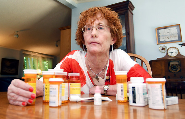 John P. Cleary | The Herald Bulletin<br /> Lynn Venable currently takes about a dozen prescription drugs to manage her pain for neurofibromatosis.