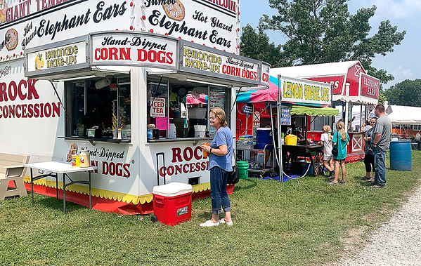 Rock Concessions and other food vendors lines up along the Midway section of Beulah Park in Alexandria during the Madison County 4-H Fair.