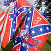 Among the items for sale at a merchandise vendor at the Madison County 4-H Fair include Confederate flags. As of Wednesday the flags have been taken down from display at the vendors booth.