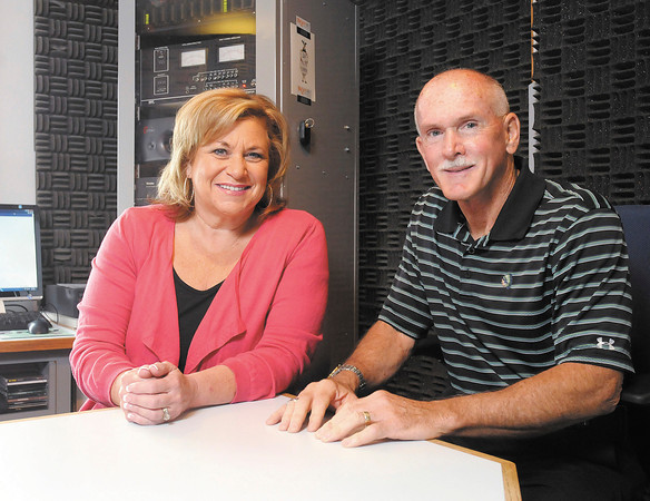 Sandi Patty and Community Hospital's Keith Trent stop by WQME to publicize Sandi's benefit concert to mark Community Hospitals 50th anniversary.