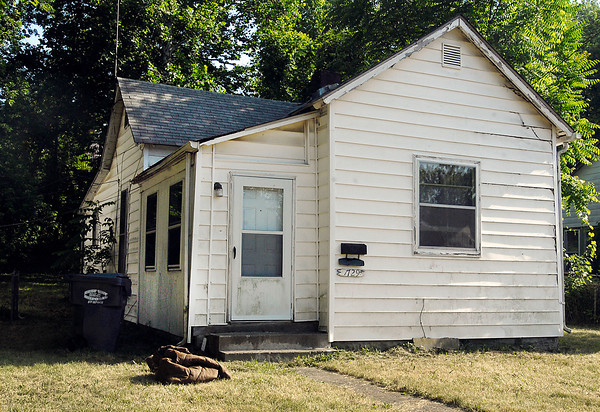 House where dead woman was found, 1729 West 9th Street, Anderson.
