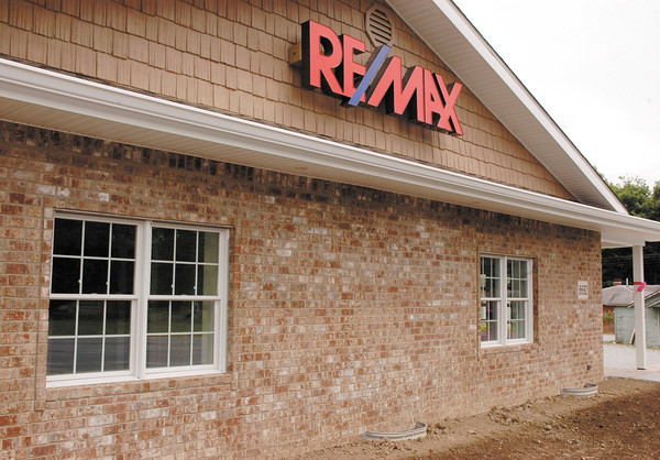 photos by Stu<br /> Tim and Julie Schnepp have renovated a building in Pendleton for their real estate office.