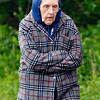 Glenora Scott  is all bundled up against the brisk temperatures Friday as she walked around Shadyside Lake.  The temperatures have gone from almost 20 degrees above normal last Sunday to 20 degrees below normal Friday.