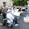 The Alexandria Community Band rehearses  at the First Baptist Church on Thursday.
