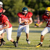 Pendleton Heights' Jacob Lyons finds room to run during the Indiana Football Hall of Fame East-West Football Classic at Anderson High School on Friday.
