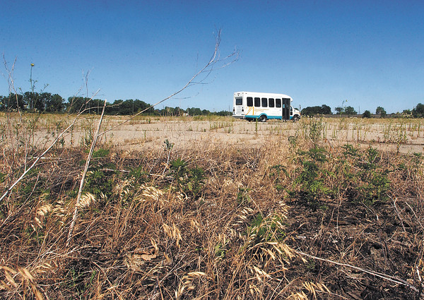 The city of Anderson hosted a bus tour of their brownfield sites Monday afternoon for people who will be attending a auto community revitalization roundtable Tuesday to explore options for redevelopment of brownfield properties.