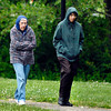 Glenora Scott and Karen Scott are all bundled up against the brisk temperatures Friday as they walked around Shadyside Lake.  The temperatures have gone from almost 20 degrees above normal last Sunday to 20 degrees below normal Friday.