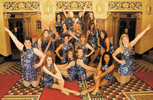 Next Step's Chorus Line dancers pose for a photo at the Paramount. dance recital. Next Step is holding their 10th dance recital on June 9th and 10th at 7pm.