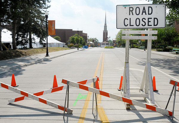 East 5th Street between Chestnut and College has been closed in preparation for the Church of God annual convention that opens Friday and runs through next Wednesday.