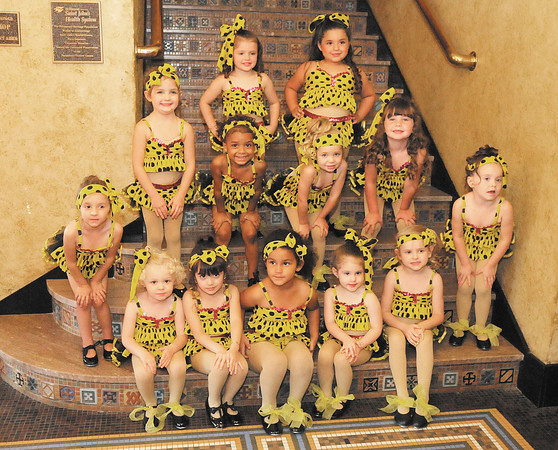 Next Step's three year old students pose for a photo at the Paramount. Next Step's dance recital is June 9th and 10th at 7pm.