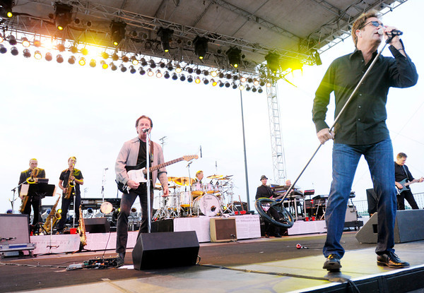 Don Knight/The Herald Bulletin<br /> Huey Lewis and the News kickoff the Hoosier Park Racing and Casino Summer concert series on Saturday. The B-52s & The Go-Go's are up next in the series performing on June 29th.