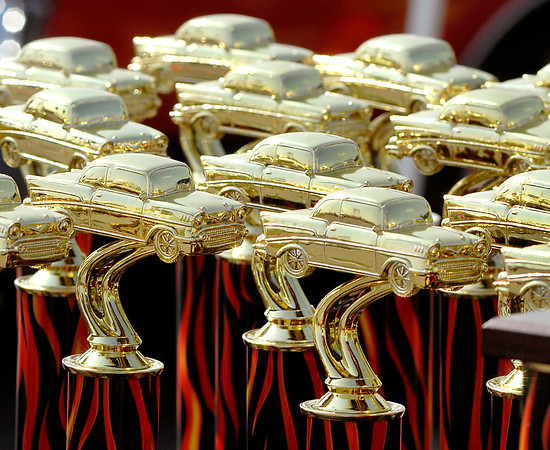 Top 50 cars received trophies at the American Classic Prime Timer Car Show at Hoosier Park Racing & Casino Monday.