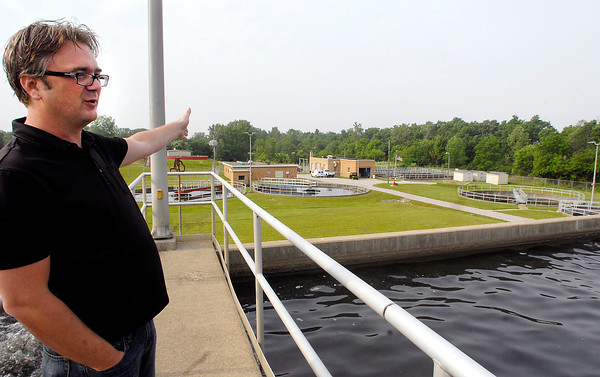 Josh Ginder, Elwood's Wastewater Treatment Plant supervisor, talks about the citys' outdated facility and the need for a new treatment plant.