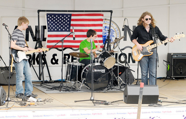 Keppra the Band performs during the Madison County Relay for Life at Pendleton Heights Friday afternoon.