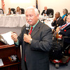 John P. Cleary | The Herald Bulletin<br /> Anderson High School Principal Terry Thompson addresses the Anderson Community Schools board of trustees and those in attendance at the meeting after he was confirmed by the board as the next school superintendent of ACS.  Thompson shared with the audience his six-point plan as the new leader of the public school system.<br /> <br /> <br /> The ACS board meeting voting on new superintendent.