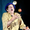 "John P. Cleary | The Herald Bulletin<br /> This is a scene from ""A Simple Gift"" story told by Doug Berky in his production "" Foible, Fables, & Other Imaskinations"" at the Berkshop Theatre in the Park Place Community Center. To view or buy this photo and other Herald Bulletin photos, visit photos.heraldbulletin.com."