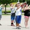Don Knight | The Herald Bulletin<br /> The Anderson marching band practices their routine on Friday. Their first competition will be July 12th at Centerville.