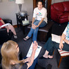 John P. Cleary | The Herald Bulletin<br /> Beauty for Ashes director Sharon Benfro, right, conducts a Boundaries class in the living roon of the facility.