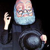 """John P. Cleary   The Herald Bulletin<br /> This is a scene from """" The Old Man and his Hat"""" story told by Doug Berky in his production """" Foible, Fables, & Other Imaskinations"""" at the Berkshop Theatre in the Park Place Community Center."""
