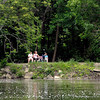 John P. Cleary | The Herald Bulletin<br /> These folks take a break from their walk around Shadyside Lake to rest and enjoy the day.