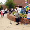 John P. Cleary | The Herald Bulletin<br /> Sister Kathleen Reilly leads those gathered Monday morning in singing Happy Birthday to us as St. Vincent Anderson Regional Hospital celebrated their 120th birthday.