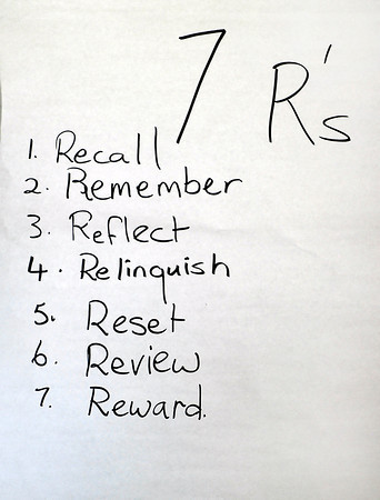 John P. Cleary | The Herald Bulletin<br /> This sign hangs in the living area of Beauty for Ashes as a reminder to all of their 7 R's.