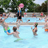 Don Knight | The Herald Bulletin<br /> Kids toss a ball around in the Alexandria city pool on Thursday. Alexandria's pool is open every day of the summer season from Noon to 6 p.m. with the exception of the week of the 4-H Fair.