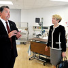 John P. Cleary | The Herald Bulletin<br /> Ivy Tech Anderson campus president James Willey shows incoming Ivy Tech president Sue Ellspermann the St. Vincent Clinical Education Center as she toured the Anderson campuses Monday afternoon.