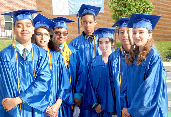 Stu Hirsch | The Herald Bulletin<br /> St. Mary's graduation on Wednesday.