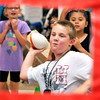 John P. Cleary | The Herald Bulletin<br /> Jaxson Marsh, 7, takes aim with the football to try and win a prize if he hits the target during the Community Safety Fair and family fun day at the Mounds mall Wednesday afternoon.