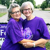 Sisters Cindy Hamilton (right) and Malanie Strong (left), 15 year survivors of breast cancer, say today's Relay for Life offers cancer survivors a community. The two's strong bond helped them to get through their battle, and now they want to share that with anyone going through the same trial.