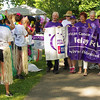 To the applause of supporters and fellow participants, cancer survivors lead the first lap around Alexandria's Beulah Park to kick-off the Relay for Life on Friday evening.