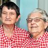John P. Cleary | The Herald Bulletin<br /> Margaret June Clark and twin sister Martha Gene Lambert will celebrate their 90th birthday on June 21st.