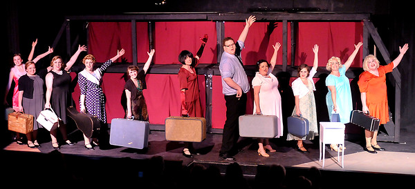 """John P. Cleary   The Herald Bulletin<br /> Sweet Sue and her band arrive in Miami for their next booking in the Mainstage production of """"Suger."""""""