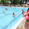 Don Knight | The Herald Bulletin<br /> Life guard Caddidy Garner keeps an eye on swimmers at the Alexandria city pool on Thursday. Admission to the pool is $4 per person or $30 for a individual season pass.