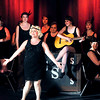 "John P. Cleary | The Herald Bulletin<br /> Sugar Kane (Melissa Franklin) sings with Sweet Sue's all-female band in the Mainstage production of ""Suger."""