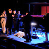 "John P. Cleary | The Herald Bulletin<br /> Musicians Jerry and Joe witness a murder by Spats and his mob gang in the Mainstage production of ""Suger."""