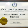 John P. Cleary | The Herald Bulletin<br /> Madison County Chamber received a Century Certificate from Indiana Secretary of State Connie Lawson Monday.