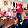 John P. Cleary | The Herald Bulletin<br /> Residents of Parkview Place talk about the YMCA. Linda Reeser, Karen Braden, Randy Willis, and Lynn Pharris discuss issues about the Y.