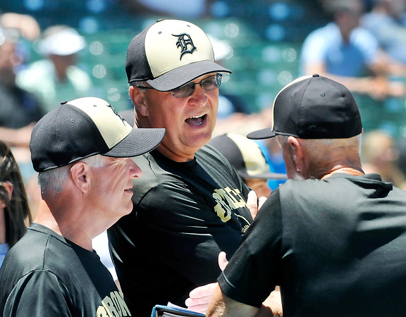 John P. Cleary | The Herald Bulletin<br /> Daleville head coach Terry Turner talks with his assistant coaches.