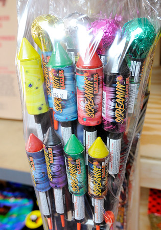 Don Knight | The Herald Bulletin<br /> Rockets for sale at Jem's Little Shop of Boom in Anderson. Several firework vendors have opened up ahead of the July 4th holiday.