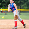 John P. Cleary | The Herald Bulletin<br /> Elwood pitcher Mackenzie Bryan lets go with a pitch against Oak Hill.