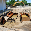 John P. Cleary | The Herald Bulletin<br /> Work began Monday on the removal of underground storage tanks and contaminated soil from the site of a former gas station at 2691 Nichol Ave.