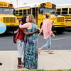 Don Knight | The Herald Bulletin<br /> There were hugs, smiles and even a few tears as teachers said goodbye to their students on the last day of school at Eastside Elementary on Wednesday. Anderson Community Schools students return to the classroom in nine weeks on August 3rd.
