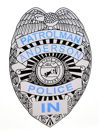 John P. Cleary    The Herald Bulletin<br /> This is a close-up of the door shield decal on one of the new Ford Interceptor vehicles APD will put in service shortly.